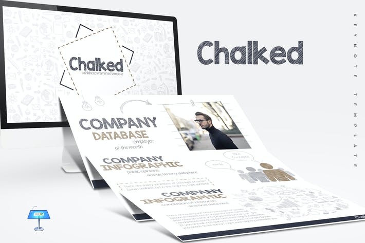 Thumbnail for Chalked - Keynote Templates