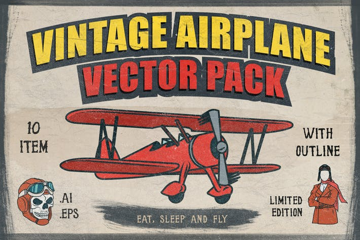 Thumbnail for Vintage Avion Vecteur Pack