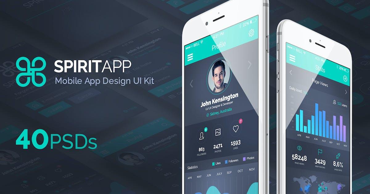Download SpiritApp - Mobile Design UI Kit by creakits
