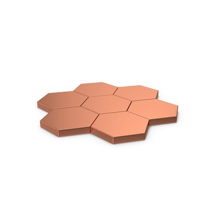Hexagon Mosaic Bronze