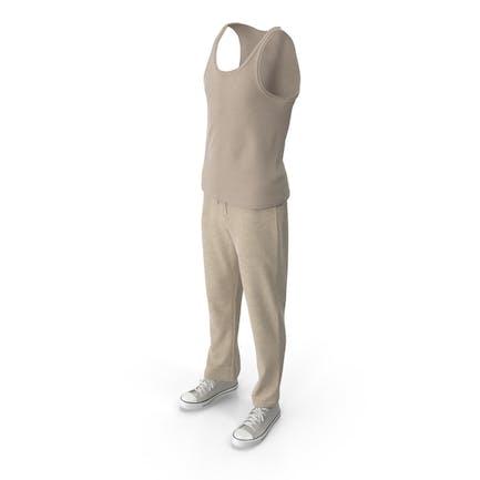Men's Sport Clothing Beige