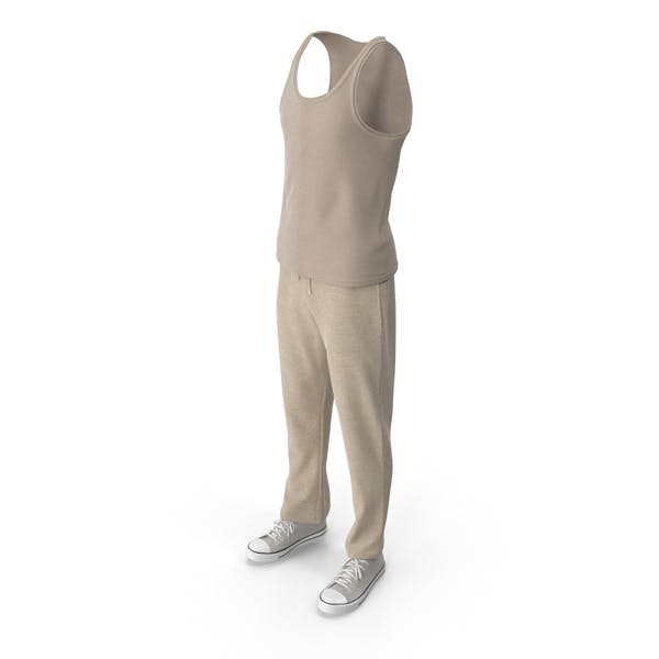 Men's Sport Clothing Beige