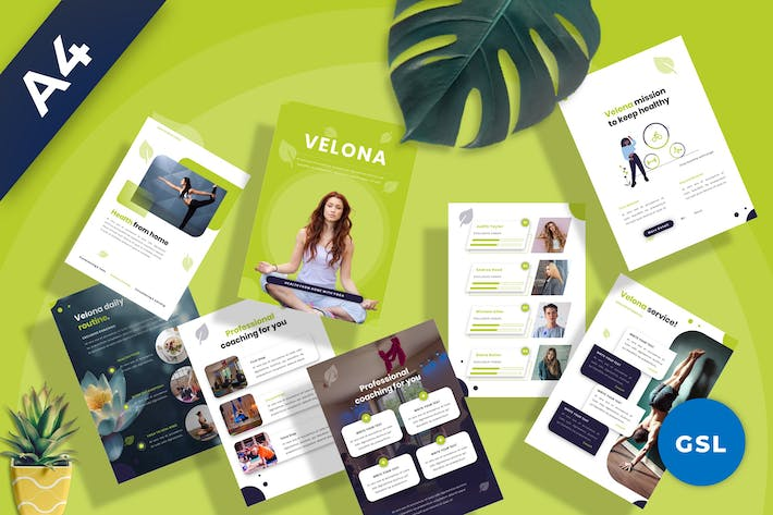 Velona - Yoga Coaching Googleslide Template