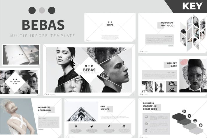 Thumbnail for Bebas Keynote Template