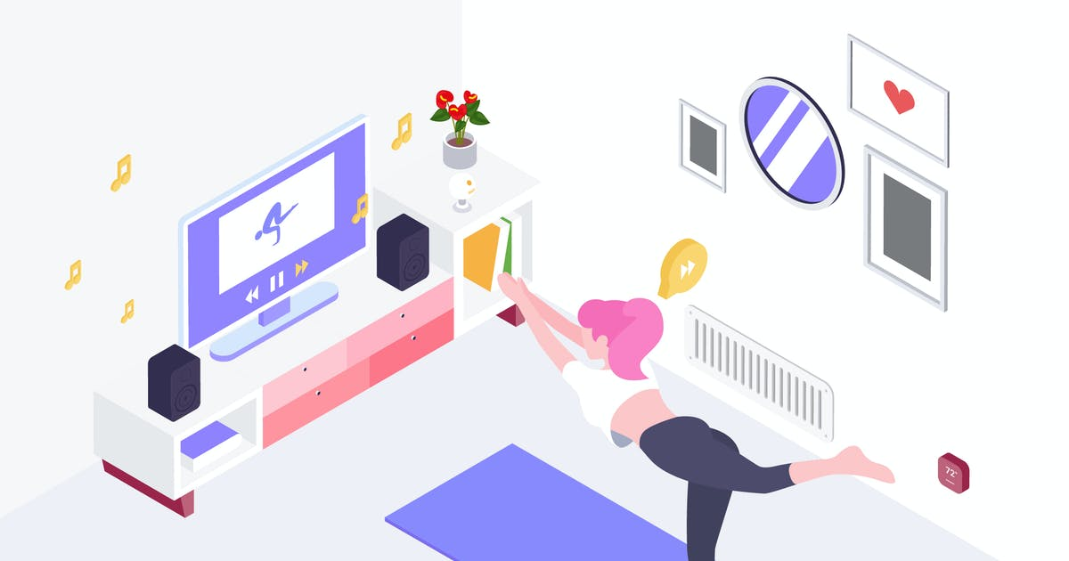 Download Smartthings for Smarthome Isometric Illustration by angelbi88