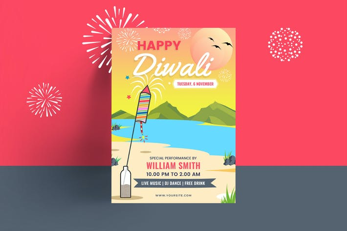 Thumbnail for Diwali Party Flyer