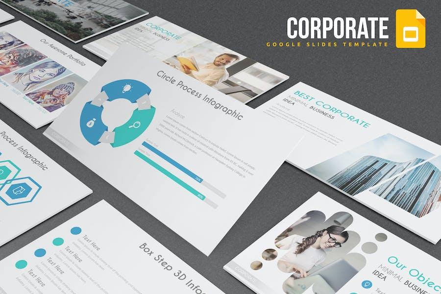Корпоративный - Шаблон слайдов Google