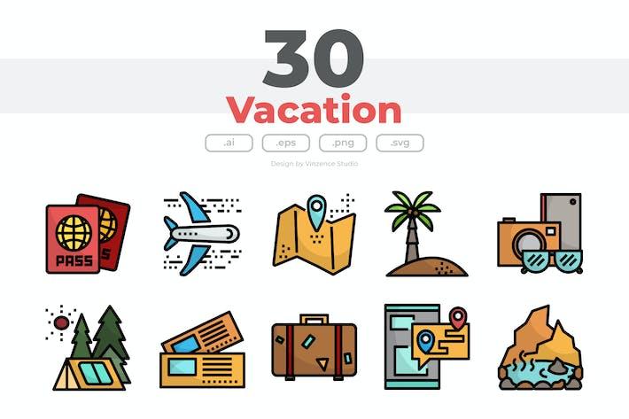 Thumbnail for 30 Urlaub-Icons