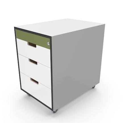 Cajón de oficina con cerradura