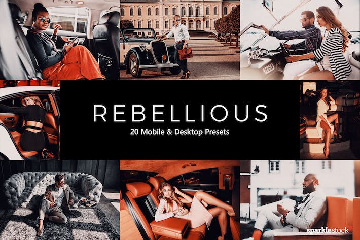 Thumbnail for 20 Rebellious Lightroom Presets & LUTs