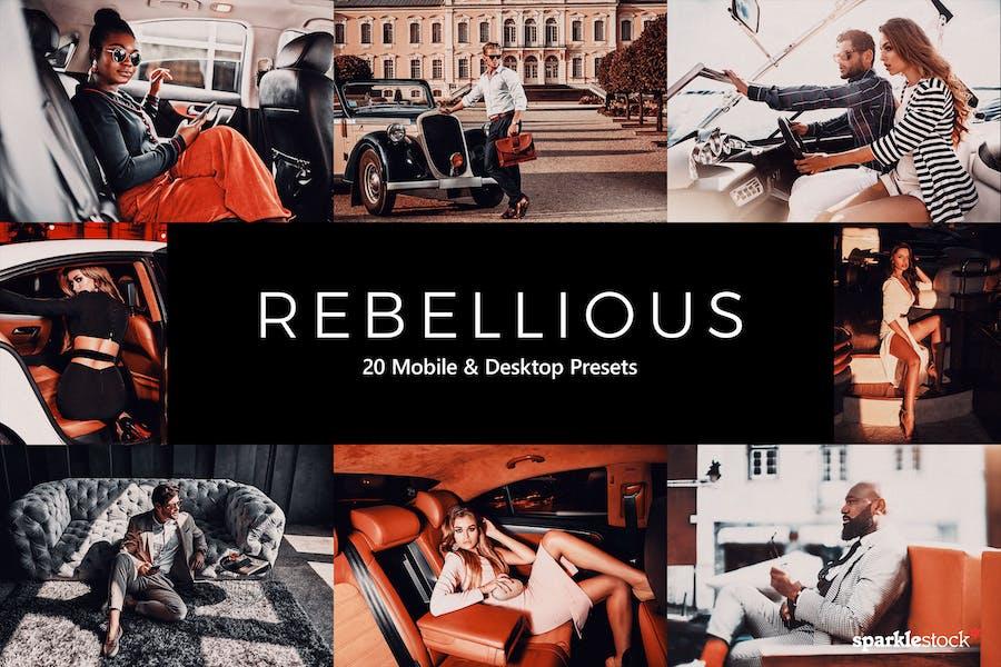 20 Rebellious Lightroom Presets & LUTs
