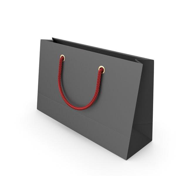 Черный упаковочный мешок с красными ручками