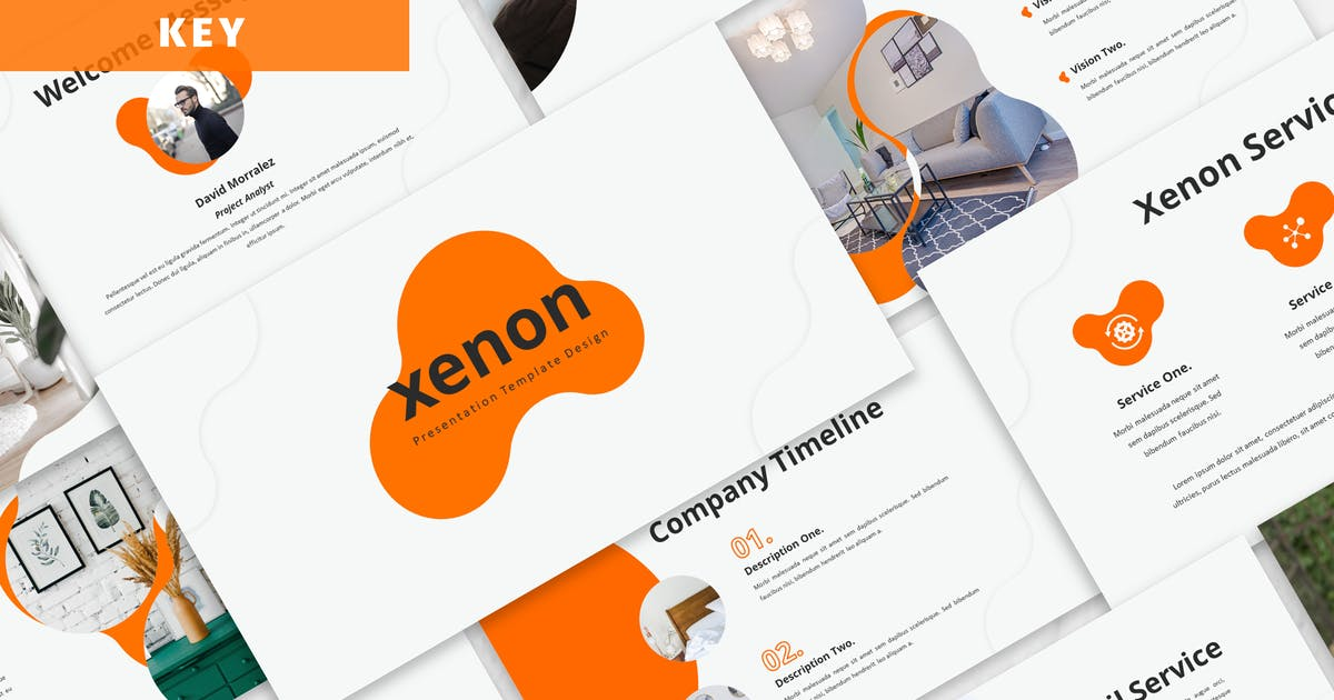 Download Xenon - Business Keynote Template by Blesstudio