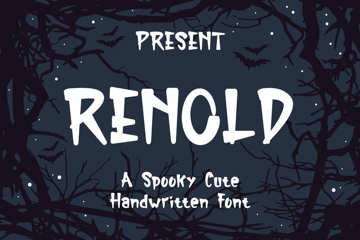 Thumbnail for Renold Typeface - A Spooky Cute Handwritten Font