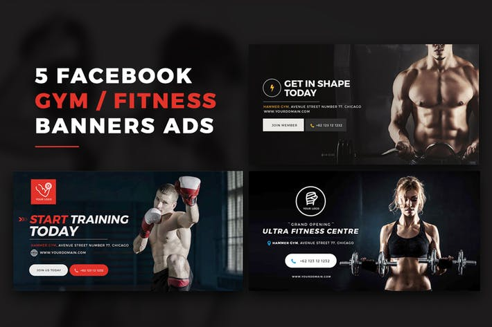 Cover Image For Facebook Gym Post Banners