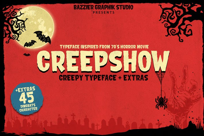 Thumbnail for Creepshow- Horror font