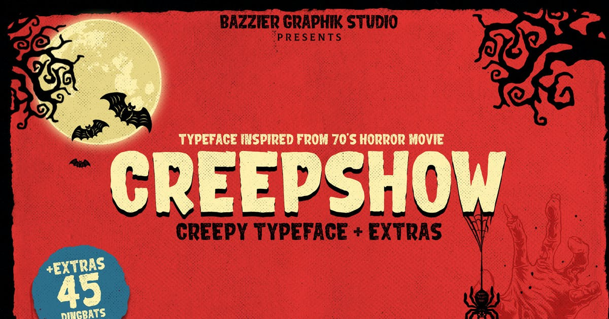 Download Creepshow- Horror font by bazzier