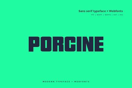 Porcine - Tipo de letra Moderno + WebFont