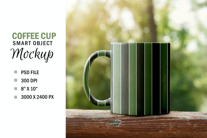 Thumbnail for Smart Object Cup Sublimation Mockup