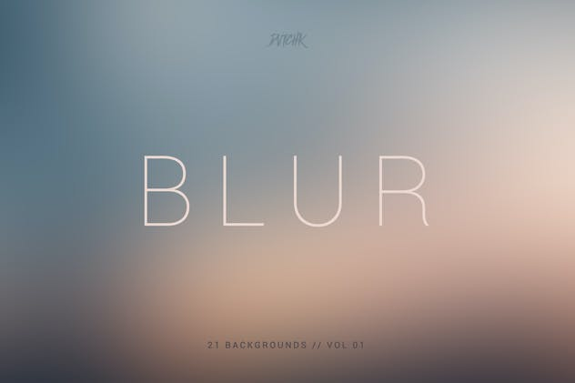 Blur | Smooth Backgrounds | Vol. 01
