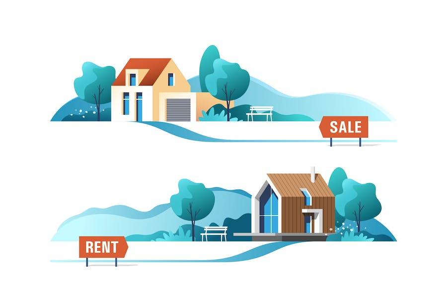 Real Estate Business Concept with Houses