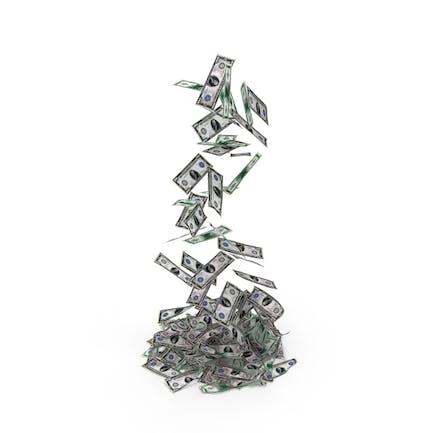 Falling Money Pile