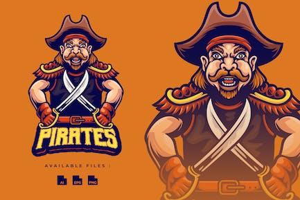 Piraten Maskottchen Logo