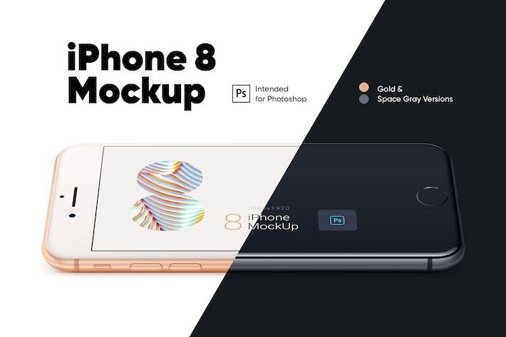 Thumbnail for iPhone 8 (Gray & Gold) Mockup