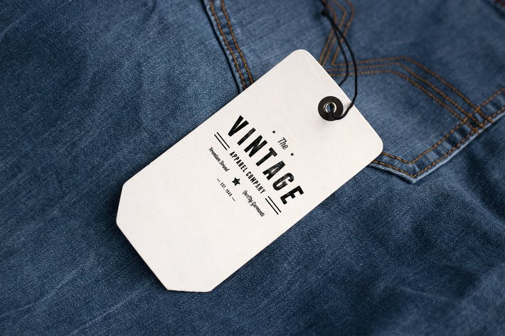 Thumbnail for Clothing Tag Label Mockup