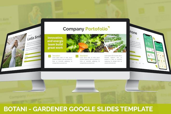 Ботани - Садовник Google Слайды Шаблон