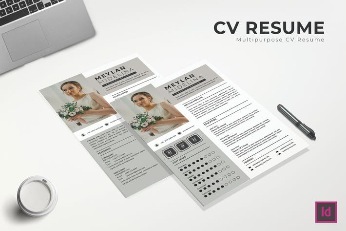 Thumbnail for White Space CV Resume Template
