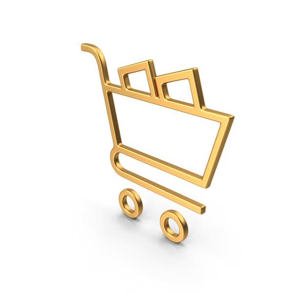 Thumbnail for Shopping Cart Symbol Gold