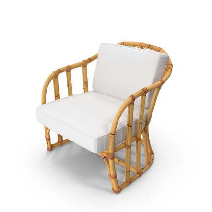 Bamboo Armchair with Cushions