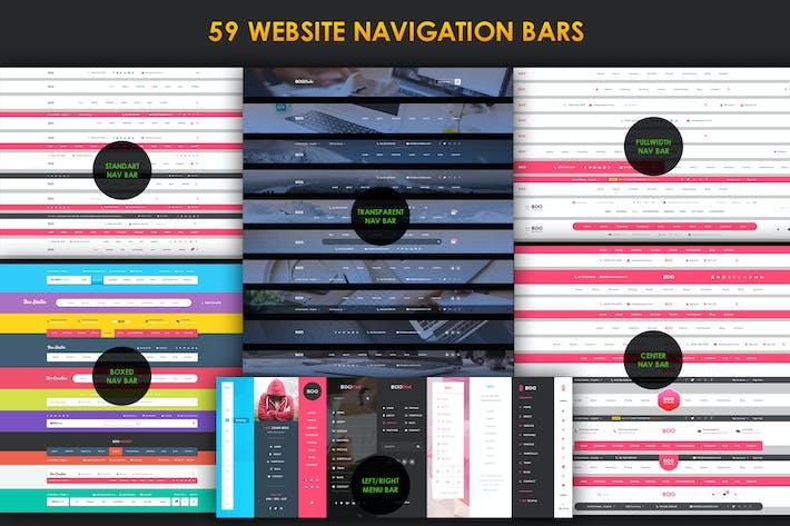 Thumbnail for 59 Navigation Bars for Website