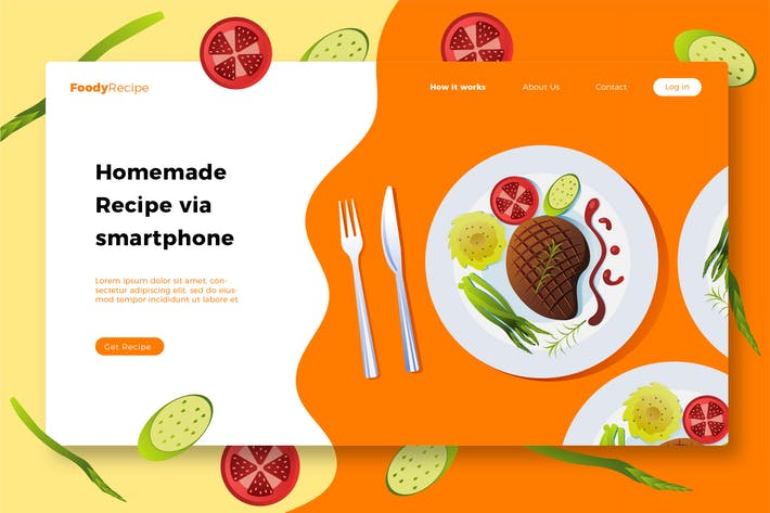 Thumbnail for FoodyRecipe - Banner & Landing Page