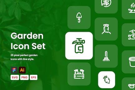 Garden Line Icon Set