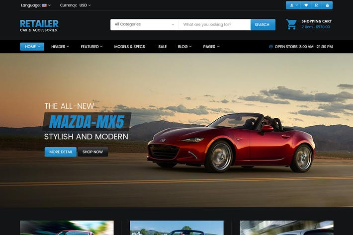 Thumbnail for Micar - Auto Dealer RTL WooCommerce WordPress Them