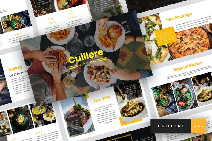 Thumbnail for Cuillere - Restaurant Google Slides Template