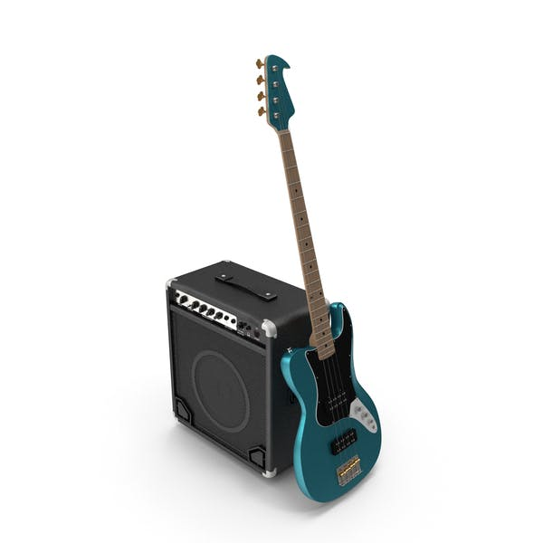 Electric Guitar And Amp