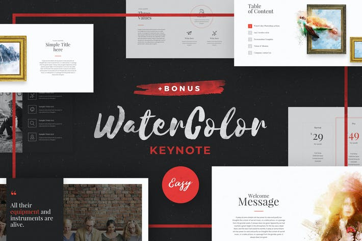 Thumbnail for WaterColor - Keynote Template
