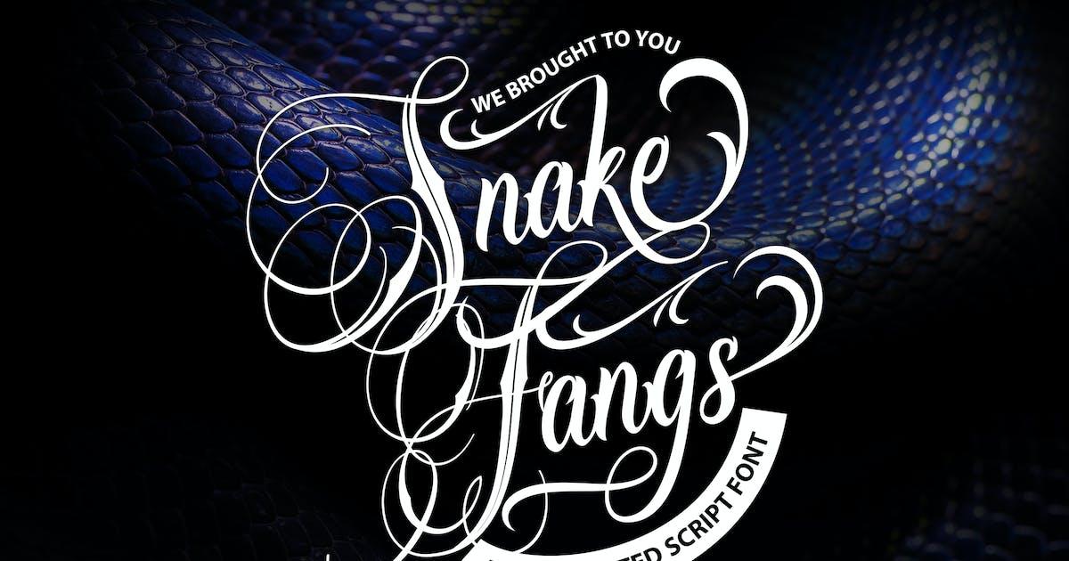 Download Snake Fangs | Handcrafted Script Font by Vunira