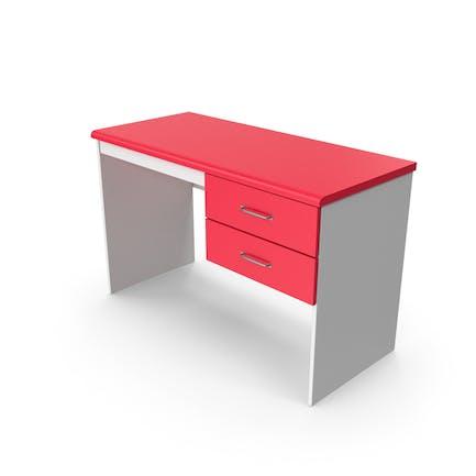 Домашний офис Стол Красный Белый