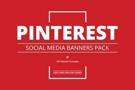 Pinterest Lot de bannières pour réseaux sociaux