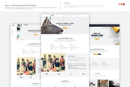BizTo - многоцелевой Шаблон HTML5