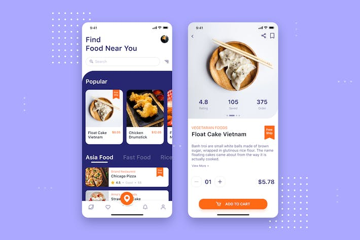 Thumbnail for Food Delivery Mobile UI Concept