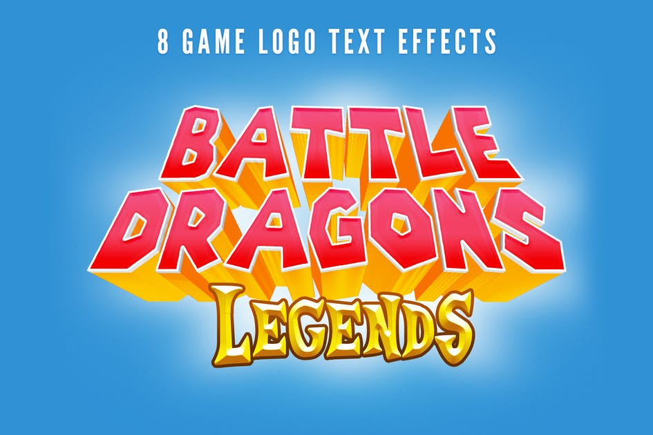 Download Game Logo Text Styles by HyperPix