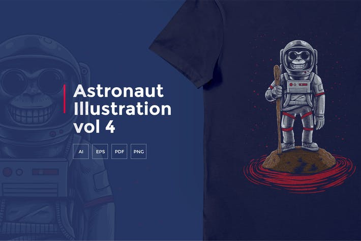 Thumbnail for Astronaut Tshirt Graphic vol 4