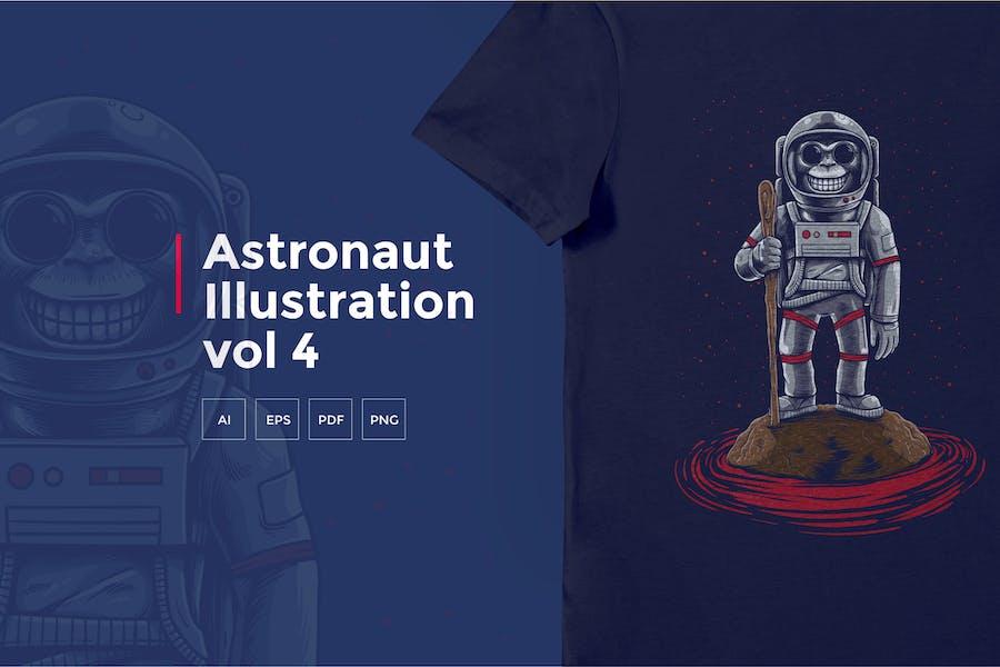 Astronaut Tshirt Graphic vol 4
