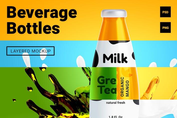 Thumbnail for 3d beverage bottles mockup