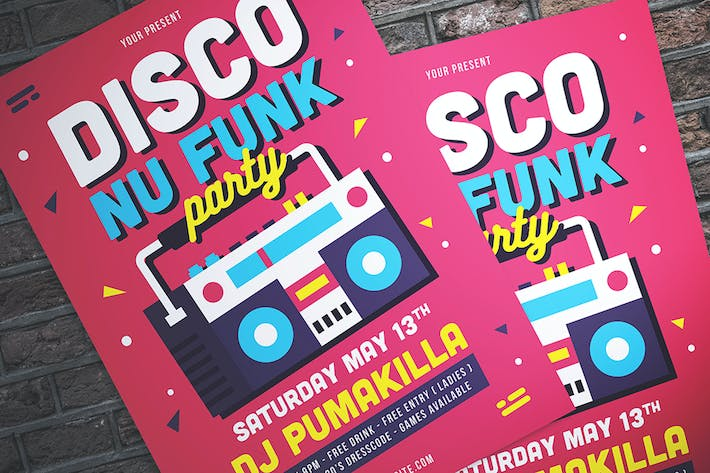 Thumbnail for Disco Nu-Funk Party Flyer